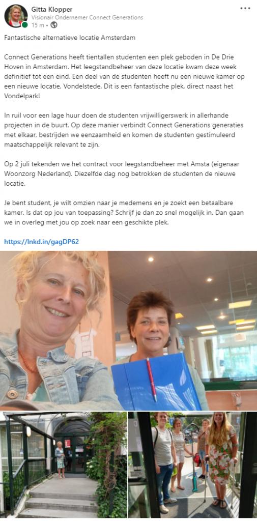 Bericht 08-07-2021 LinkedIn - Connect Generations
